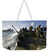 A Riverine Squadron Conducts Security Weekender Tote Bag