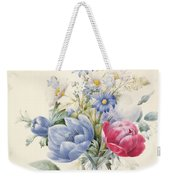 A Rose Anemone Mignonette And Daisies Weekender Tote Bag