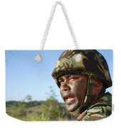 A Royal Brunei Land Force Soldier Weekender Tote Bag by Stocktrek Images