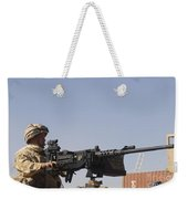 A Royal Marine Manning A .50 Caliber Weekender Tote Bag