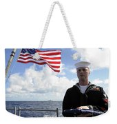 A Sailor Carries The National Ensign Weekender Tote Bag