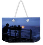 A Sailor Fires A .50-caliber Machine Weekender Tote Bag