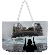 A Sailor Guides A Landing Craft Air Weekender Tote Bag