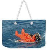 A Sailor Rescued By A Diver Weekender Tote Bag by Stocktrek Images