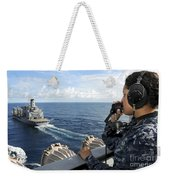 A Sailor Stands Forward Lookout Watch Weekender Tote Bag