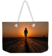 A Sailor Walks The Catapults Weekender Tote Bag