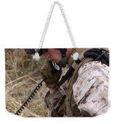 A Satellite Communications Specialist Weekender Tote Bag by Stocktrek Images