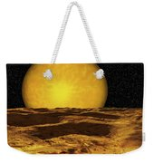 A Scene On A Moon Of Upsilon Andromeda Weekender Tote Bag