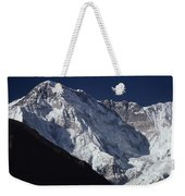A Scenic View Of A Steep Icy Weekender Tote Bag