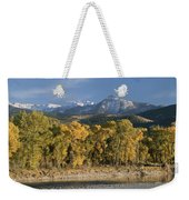 A Scenic View Of The Yellowstone River Weekender Tote Bag