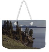 A Scenic View Of Yellowstone Lake Weekender Tote Bag