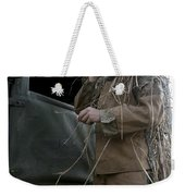 A Scout Observer Applies Camouflage Weekender Tote Bag by Stocktrek Images