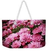 A Sea Of Pink Chrysanthemums Weekender Tote Bag