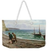 A Sea View Weekender Tote Bag by Colin Hunter