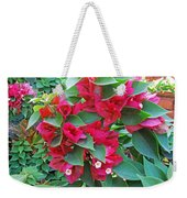 A Section Of Pink Bougainvillea Flowers Weekender Tote Bag