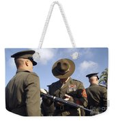 A Senior Drill Instructor Inspects Weekender Tote Bag