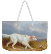 A Setter On The Moor Weekender Tote Bag