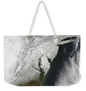 A Severe Winter Storm Along The United Weekender Tote Bag