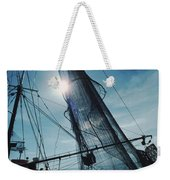 A Shrimping Boat Off The Coast Weekender Tote Bag
