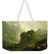 A Sketching Party In The Pass At Borrowdale Weekender Tote Bag