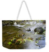 A Small Dam Of Golden Leaves  Weekender Tote Bag