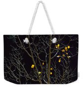 A Small Number Of Leaves Still Cling Weekender Tote Bag