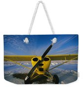 A Small Personal Aircraft Sitting Weekender Tote Bag