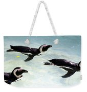 A Small Squadron Of Swimming Penguins Weekender Tote Bag