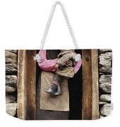 A Smiling Bhutanese Woman And Child Weekender Tote Bag