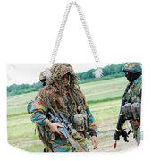 A Sniper Of The Belgian Army Together Weekender Tote Bag