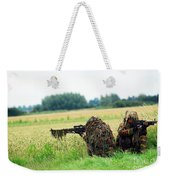 A Sniper Unit Of The Paracommandos Weekender Tote Bag by Luc De Jaeger