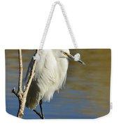 A Snowy Egret  Weekender Tote Bag