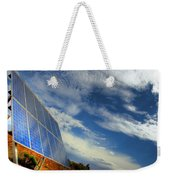 A Solar Panel In The Desert Of South Weekender Tote Bag