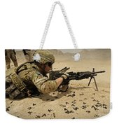 A Soldier Clears The Mk-48 Machine Gun Weekender Tote Bag
