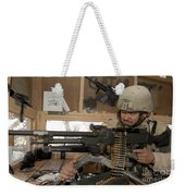 A Soldier Conducts An Observation Weekender Tote Bag