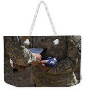 A Soldier Is Presented The American Weekender Tote Bag