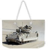 A Soldier Looks Out Of The Top Hatch Weekender Tote Bag