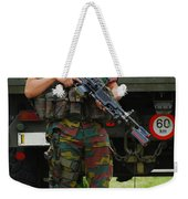 A Soldier Of An Infantry Unit Weekender Tote Bag by Luc De Jaeger