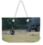 A Soldier Of The Belgian Artillery Unit Weekender Tote Bag by Luc De Jaeger