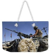 A Soldier Of The British Army Mans Weekender Tote Bag