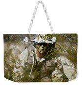 A Soldier Practices Evasion Maneuvers Weekender Tote Bag