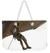 A Soldier Rappels From An Mh-60s Weekender Tote Bag
