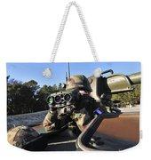 A Soldier Scans The Horizon Weekender Tote Bag