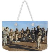 A Soldier Teaches How To Properly Weekender Tote Bag by Stocktrek Images