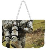 A Soldier Transports A Fellow Wounded Weekender Tote Bag