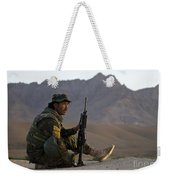 A Soldier With The Afghan National Army Weekender Tote Bag