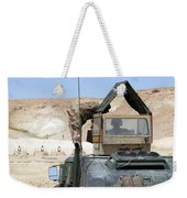 A Soldiier Instructs An Iraqi Army Weekender Tote Bag