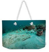 A Southern Stingray On The Sandy Bottom Weekender Tote Bag by Michael Wood
