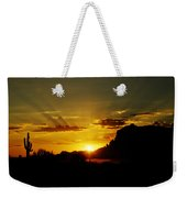 A Southwest Sunrise  Weekender Tote Bag