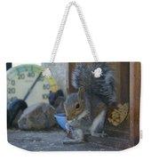 A Squirrel In 55 Degree Weather Weekender Tote Bag